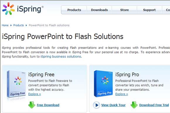 powerpoint omzetten naar flash movie