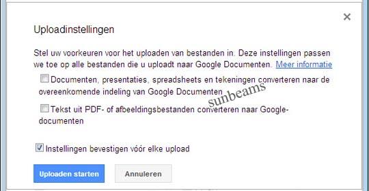ppsx uploaden naar googledocs