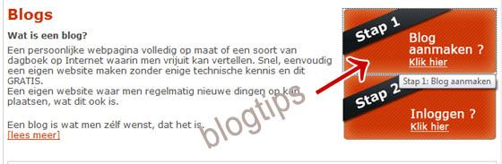 blog aanmaken